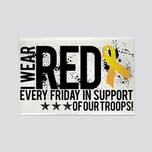 Red4OurTroops Rectangle Magnet